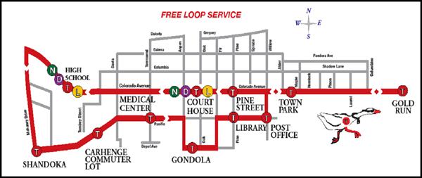Free Town Loop Map